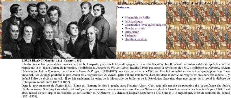 Le gouvernement de 1848 (image cliquable)