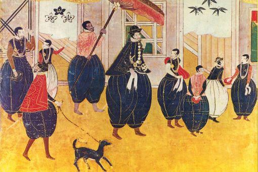 Le paravent de Namban Byobu : les Japonais découvrent les Portugais (c.1550)