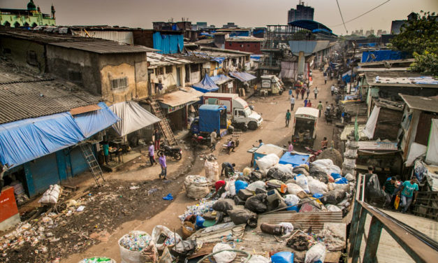 slum of Dharavi , Mumbai, India (2nde euro)