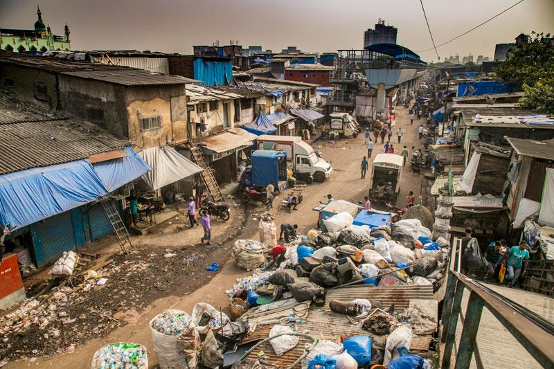 slum of Dharavi , Mumbai, India (2nde euro)