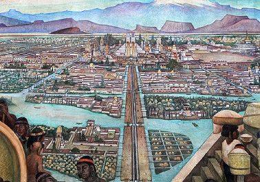 Image illustrant l'article Tenochtitlan-Le-Marche-de-Tlatelolco-Diego-Rivera-1952-Big de Clio Lycee