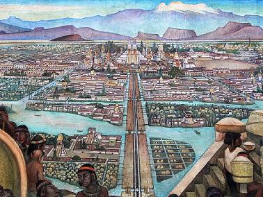 Tenochtitlan, de la cité précolombienne à Mexico, capitale de la Nouvelle-Espagne