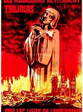 Affiche de propagande collaborationniste d'avril 1944 – Les assassins reviennent toujours sur les lieux de leur crime !