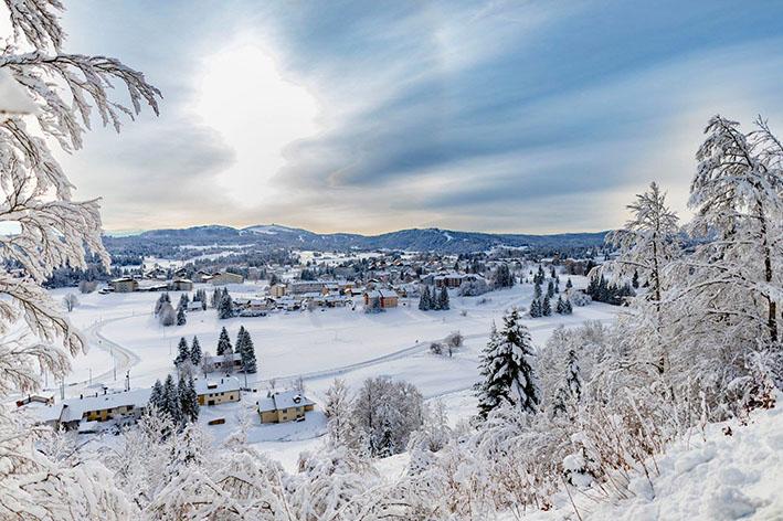 Les Rousses, une station de ski de montagne