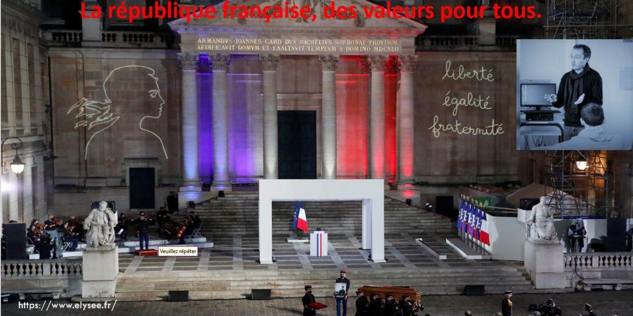 la République française, des valeurs pour tous