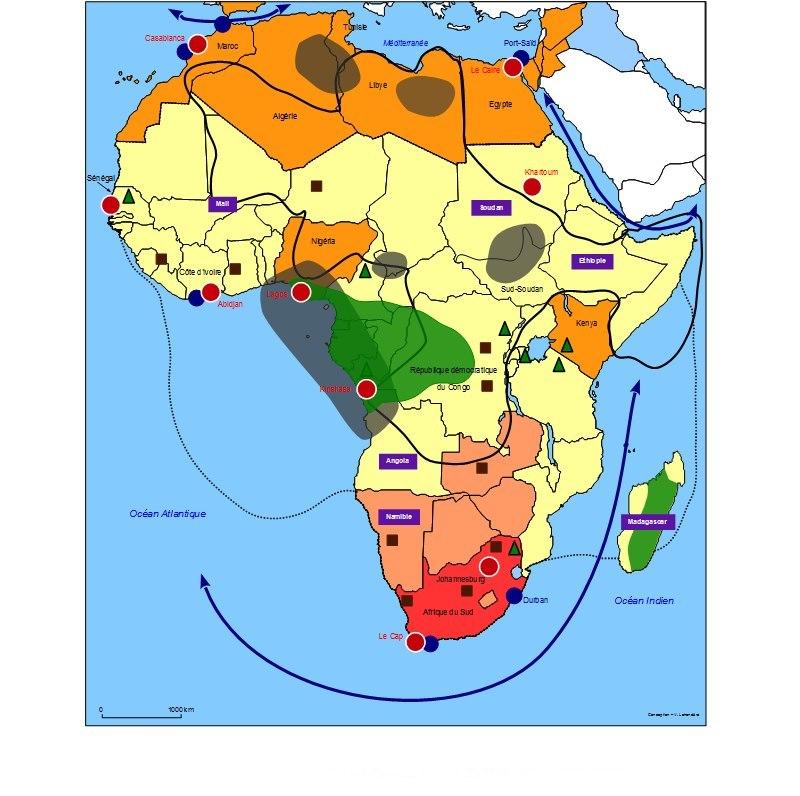 Carte Afrique Terminale Es.Des Propositions De Croquis Cartographiques Baccalaureat