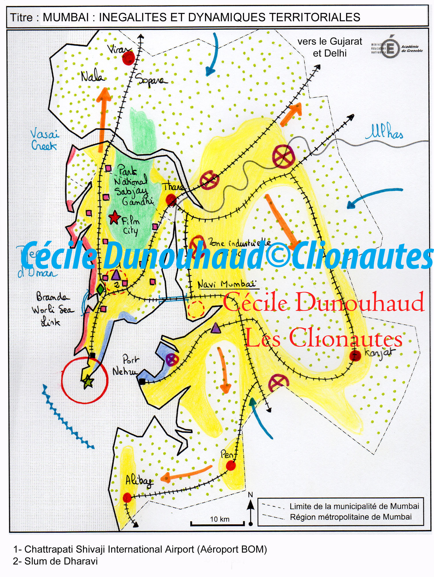 Croquis Mumbai Inegalites Et Dynamiques Territoriales Clio Lycee